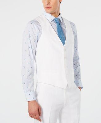 Men's Slim-Fit White Suit Vest, Created for Macy's