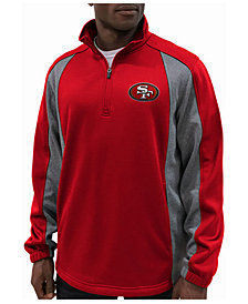 G-III Sports Men's San Francisco 49ers Offsetting Penalty Quarter-Zip Pullover
