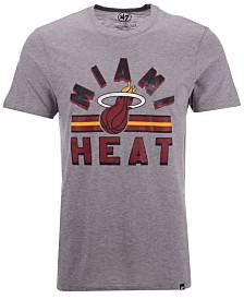 '47 Brand Men's Miami Heat Team Stripe Match T-Shirt