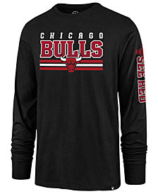 '47 Brand Men's Chicago Bulls Level Up Super Rival Long Sleeve T-Shirt