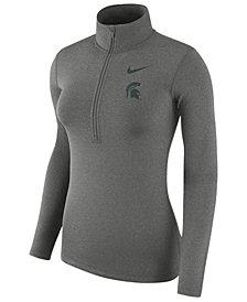 Nike Women's Michigan State Spartans Hyperwarm Quarter-Zip Pullover