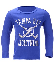 Outerstuff Tampa Bay Lightning Lines Crossed Long Sleeve T-Shirt, Toddler Boys (2T-4T)