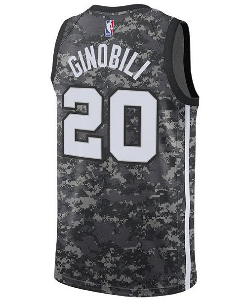 Nike Men s Manu Ginobili San Antonio Spurs City Swingman Jersey 2018 ... a5f898178