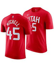 Nike Men's Donavan Mitchell Utah Jazz City Player T-Shirt 2018