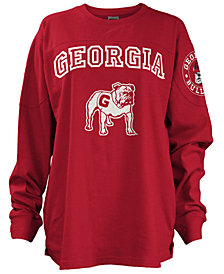Pressbox Women's Georgia Bulldogs Long Sleeve Boyfriend T-Shirt