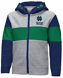 Colosseum Notre Dame Fighting Irish Colorblocked Full-Zip Sweatshirt, Toddler Boys (2T-4T)
