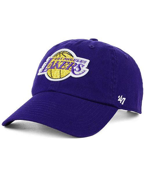 100% authentic 3e38b 244f3  47 Brand Women s Los Angeles Lakers Glitta CLEAN UP Strapback ...