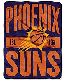 Phoenix Suns Micro Raschel Clear Out Throw Blanket
