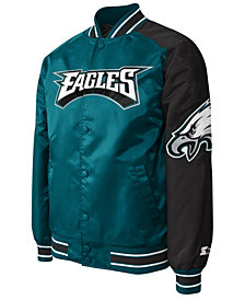 G-III Sports Men's Philadelphia Eagles Starter Dugout Playoff Satin Jacket