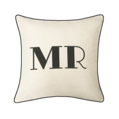 """Celebrations Pillow Embroidered Appliqued """"Mr"""""""