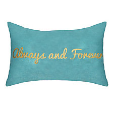 """Celebrations Pillow Metallic Gold Foil Printed """"Always and Forever"""""""