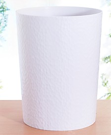 Bath Bliss Hammered Textured Trash Can