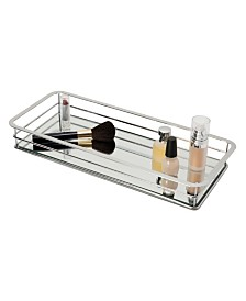 Home Details Vanity Tray with Chrome Finish