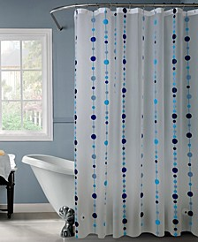 Shower Curtain in Blue Chandelier Design