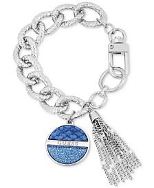 GUESS Faux Python-Embossed & Chain Tassel Charm Bracelet