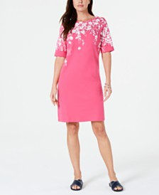 Karen Scott Floral-Print Dress, Created for Macy's