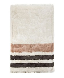 Striped Faux Fur Throw