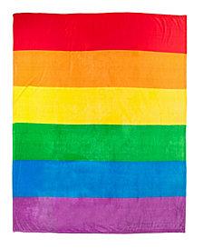 Sleeping Partners Rainbow Pride Plush Flag Blanket