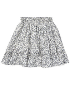 Polo Ralph Lauren Big Girls Floral-Print Cotton Skirt