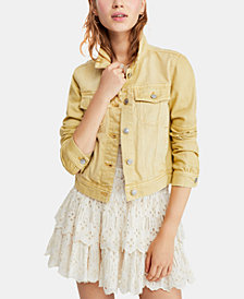 Free People Patch-Pocket Denim Jacket