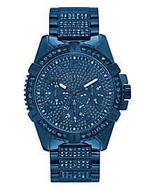 Men's Iconic Blue Stainless Steel Bracelet Watch 48mm, Created for Macy's