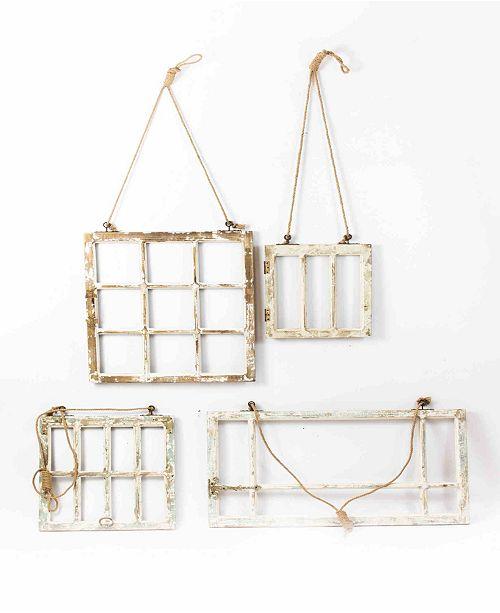 Kalalou Window Frame Wall Art Set Of 4 Reviews Wall Art Macy S