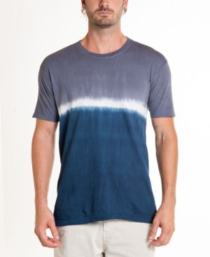 ORIGINAL PAPERBACKS South Sea Double Dip Tie Dye Crewneck Tee in Slate/ Navy