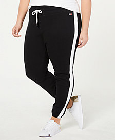 Tommy Hilfiger Sport Plus Size Striped Sweatpants