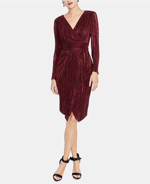 4762ae9176a RACHEL Rachel Roy Pleated Faux-Wrap Dress   Reviews - Dresses ...
