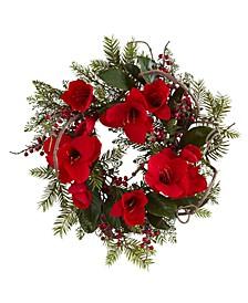 """24"""" Amaryllis Wreath"""