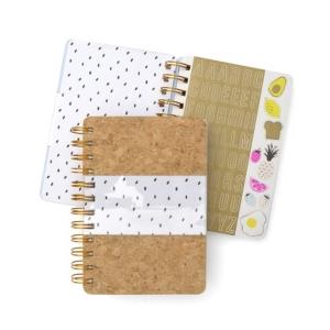 Mara-Mi Cork & Clear Mini Spiral Notebook