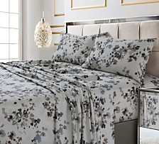 Lisbon Printed 300 TC Cotton Sateen Extra Deep Pocket Sheet Set Twin Sheet Set