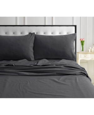 170-gsm Ultra-Soft Cotton Flannel Solid Extra Deep Pocket Full Sheet Set Bedding