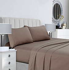 Tribeca Living 400 Thread Count Cotton Percale Extra Deep Pocket Queen Sheet Set