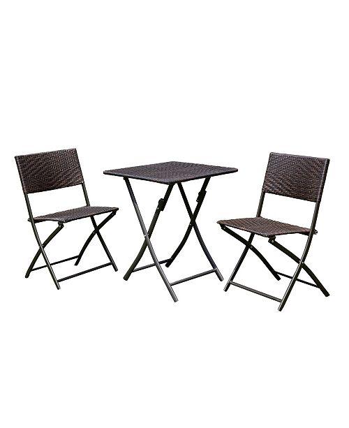 Furniture of America Candar 3-Piece Patio Seating Set