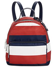 Tommy Hilfiger Julia Rugby Stripe Backpack