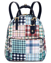 118fecbfa2a2 Tommy Hilfiger Double Handle Plaid Patchwork Julia Backpack