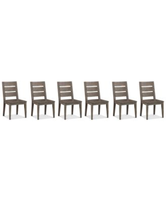 Sava Dining Furniture, 6-Pc. Set (6 Side Chairs), Created for Macy's