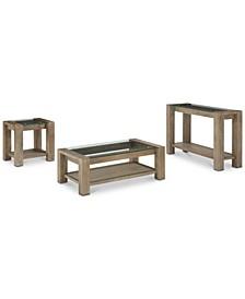 CLOSEOUT! Sava Table 3-Pc. Set (Coffee Table, End Table & Sofa Table), Created for Macy's