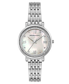 BCBG MaxAzria Ladies Stainless Steel Bracelet Watch with Light MOP Dial, 33MM
