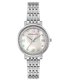BCBGMAXAZRIA Ladies Stainless Steel Bracelet Watch with Light MOP Dial, 33mm