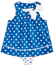 First Impressions Baby Girls Polka-Dot Skirted Romper, Created for Macy's