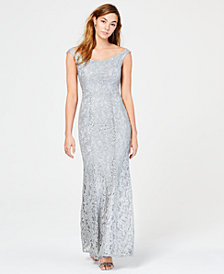 Speechless Juniors' Sequined Lace Gown