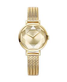 RumbaTime Hudson Weave Gem Women's Gold Watch