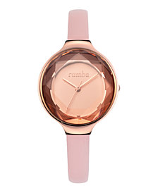 RumbaTime Orchard Gem Leather Women's Watch Blush