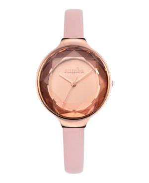 RUMBATIME Rumbatime Orchard Gem Leather Women'S Watch Blush