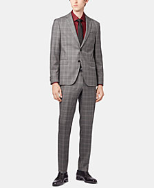 BOSS Men's Slim Fit Checked Suit