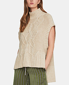 BCBGMAXAZRIA Cable-Knit Sweater Tunic