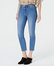 Style & Co Petite Cropped Tummy-Control Skinny Jeans, Created for Macy's