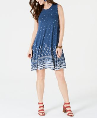 Floral-Print Swing Dress, Created for Macy's
